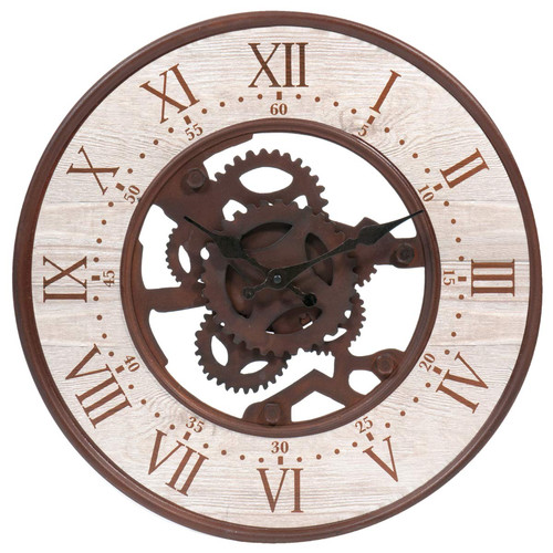 horloge en m tal effet rouille d 39 cm seattle maisons du monde. Black Bedroom Furniture Sets. Home Design Ideas