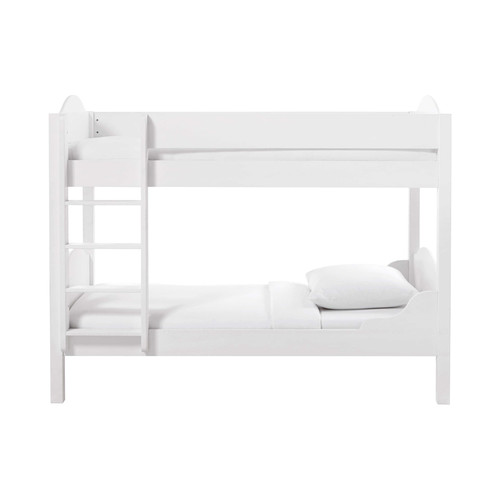 lit superpos 90 x 190 cm en bois blanc pastel maisons du monde. Black Bedroom Furniture Sets. Home Design Ideas