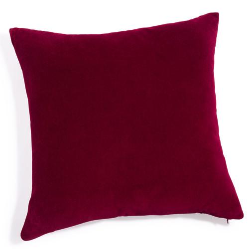 coussin en velours rouge 60 x 60 cm maisons du monde. Black Bedroom Furniture Sets. Home Design Ideas