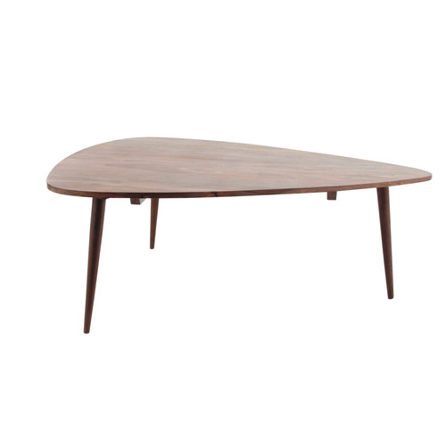 Table basse vintage en bois de sheesham massif l 117 cm - Table basse en bois massif ...