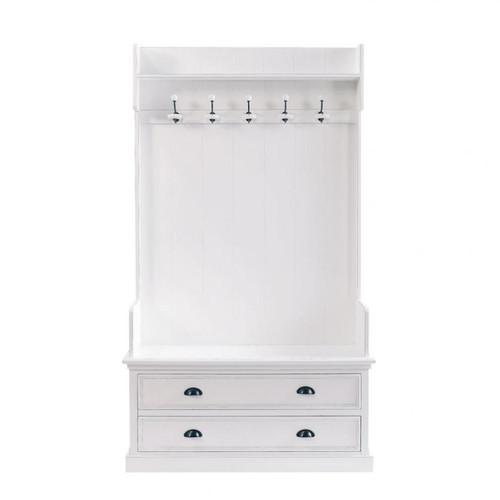 meuble d 39 entr e avec 5 pat res en bois blanc l 110 cm newport maisons du monde. Black Bedroom Furniture Sets. Home Design Ideas