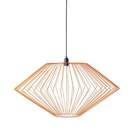 suspension m tal orange astro maisons du monde. Black Bedroom Furniture Sets. Home Design Ideas