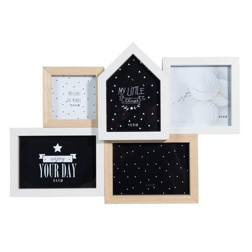 cadre photo 5 vues en bois 25 x 36 cm susan. Black Bedroom Furniture Sets. Home Design Ideas