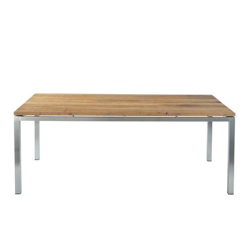 table de jardin rectangulaire teck riverside maisons du monde. Black Bedroom Furniture Sets. Home Design Ideas