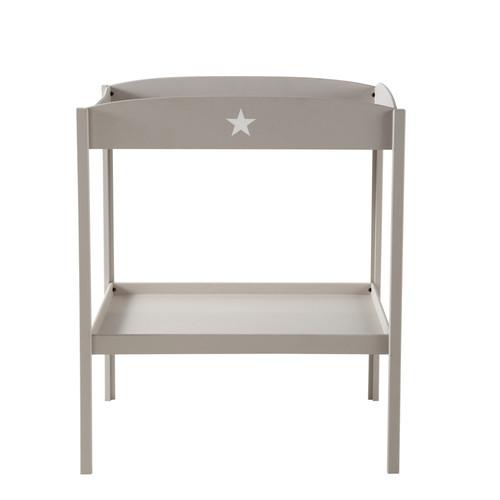 Table langer en bois taupe l 80 cm pastel maisons du monde - Organisateur table a langer a suspendre ...