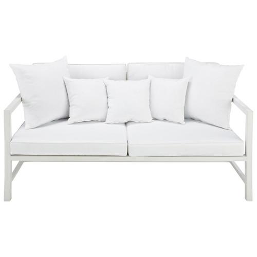 banquette de jardin 2 places en aluminium blanche ithaque. Black Bedroom Furniture Sets. Home Design Ideas
