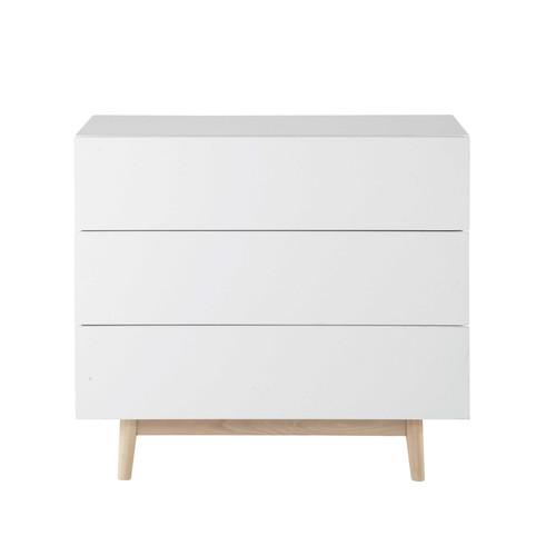 commode vintage en bois blanche l 90 cm artic maisons du monde. Black Bedroom Furniture Sets. Home Design Ideas
