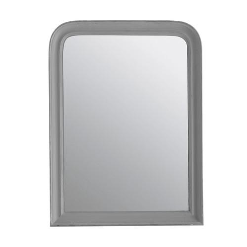 Miroir elianne arrondi gris 60x80 maisons du monde for Miroir arrondi