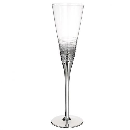 Fl te champagne en verre argent twister maisons du monde - Flute champagne maison du monde ...