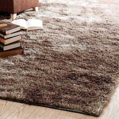 tapis poils longs en tissu beige 200 x 300 cm lumi re maisons du monde. Black Bedroom Furniture Sets. Home Design Ideas