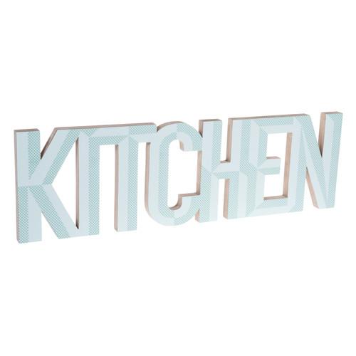 D co murale en bois vert 20 x 67 cm kitchen maisons du monde for Deco murale kitchen
