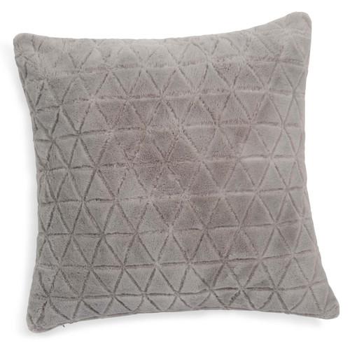 coussin en fausse fourrure gris 45 x 45 cm adaline. Black Bedroom Furniture Sets. Home Design Ideas