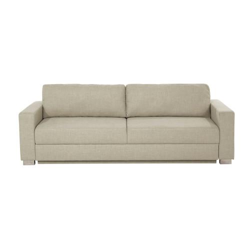 canap convertible 3 places en tissu beige urban maisons. Black Bedroom Furniture Sets. Home Design Ideas