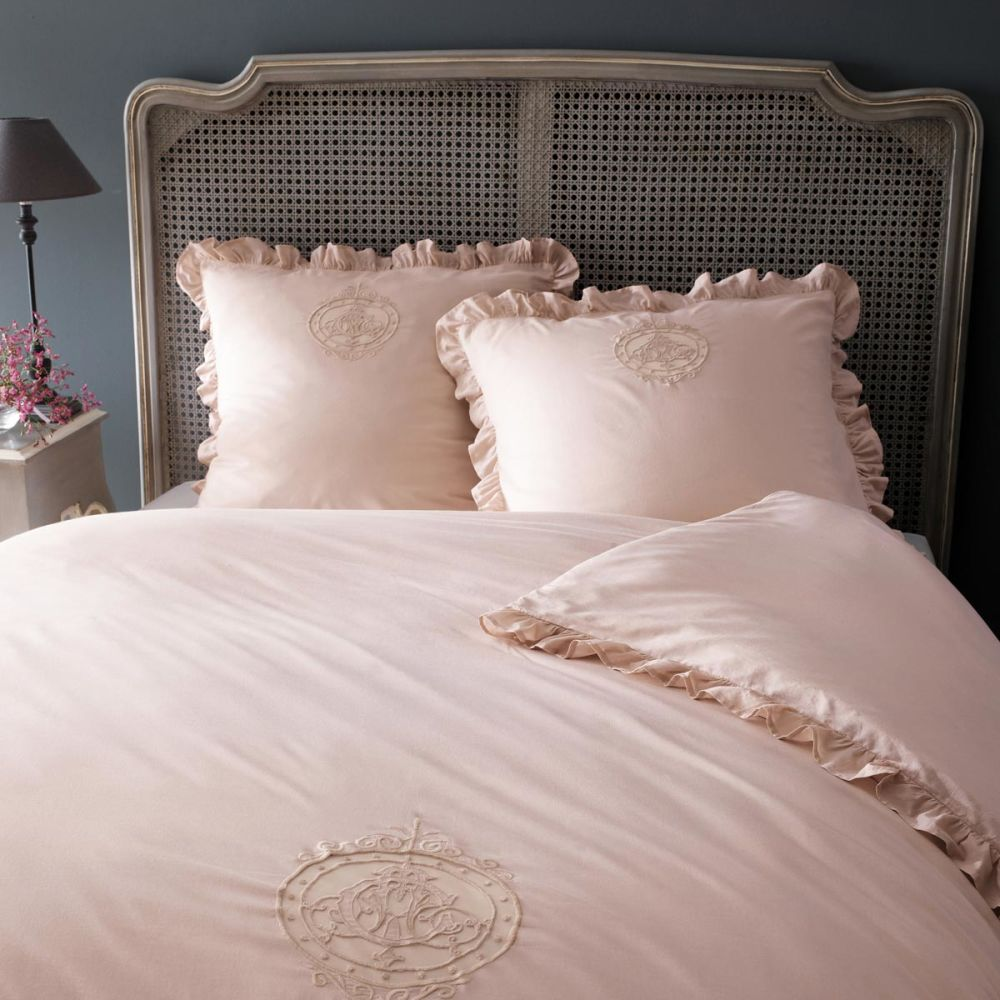 parure housse de couette blush 240x220 2 taies d. Black Bedroom Furniture Sets. Home Design Ideas