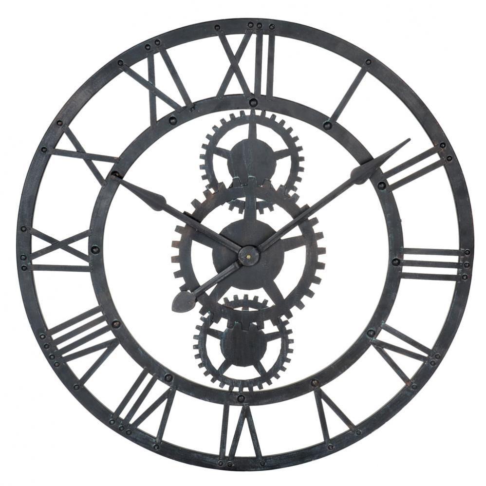 Horloge en m tal noire d 76 cm temps modernes maisons du monde - Horloge murale monde ...