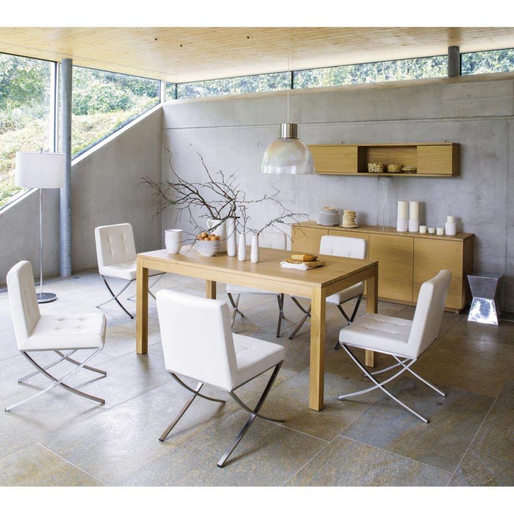 Chaise en polyur thane et inox blanche kyoto maisons du - Table maison du monde occasion ...