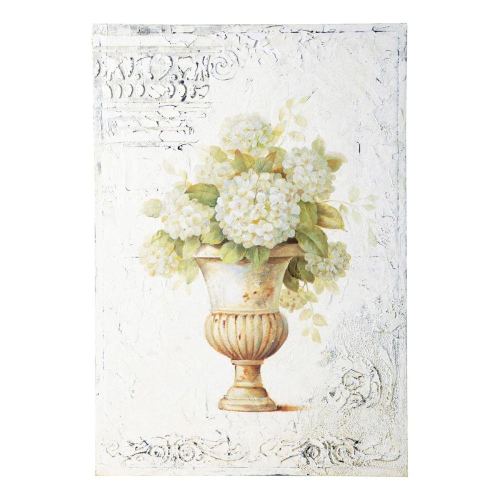 ... la main bouquet ivoire et verte 66 x 96 cm TOSCANE  Maisons du Monde