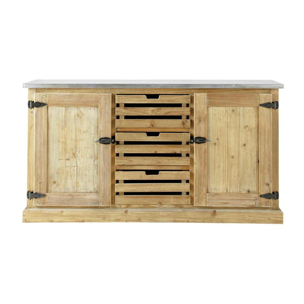 Buffet en bois recycl l 160 cm pagnol maisons du monde - Houten buffet recyclen ...