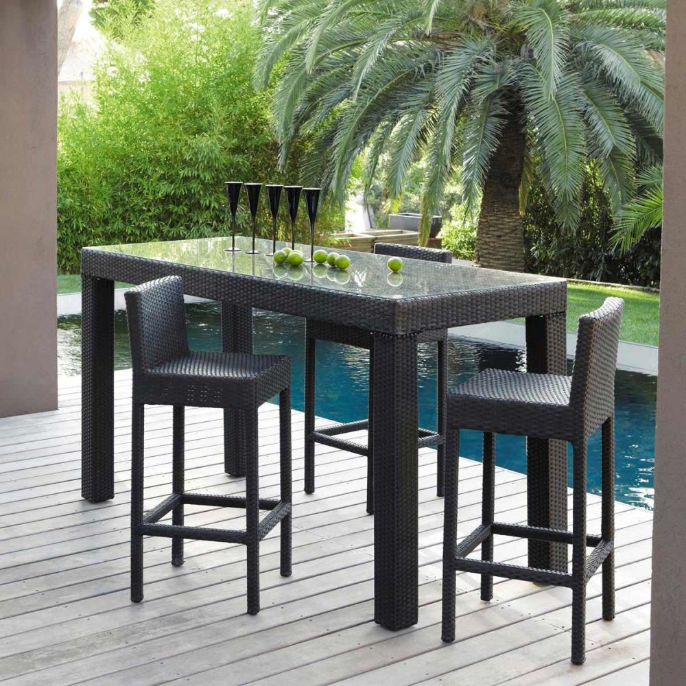 table de jardin granit. Black Bedroom Furniture Sets. Home Design Ideas