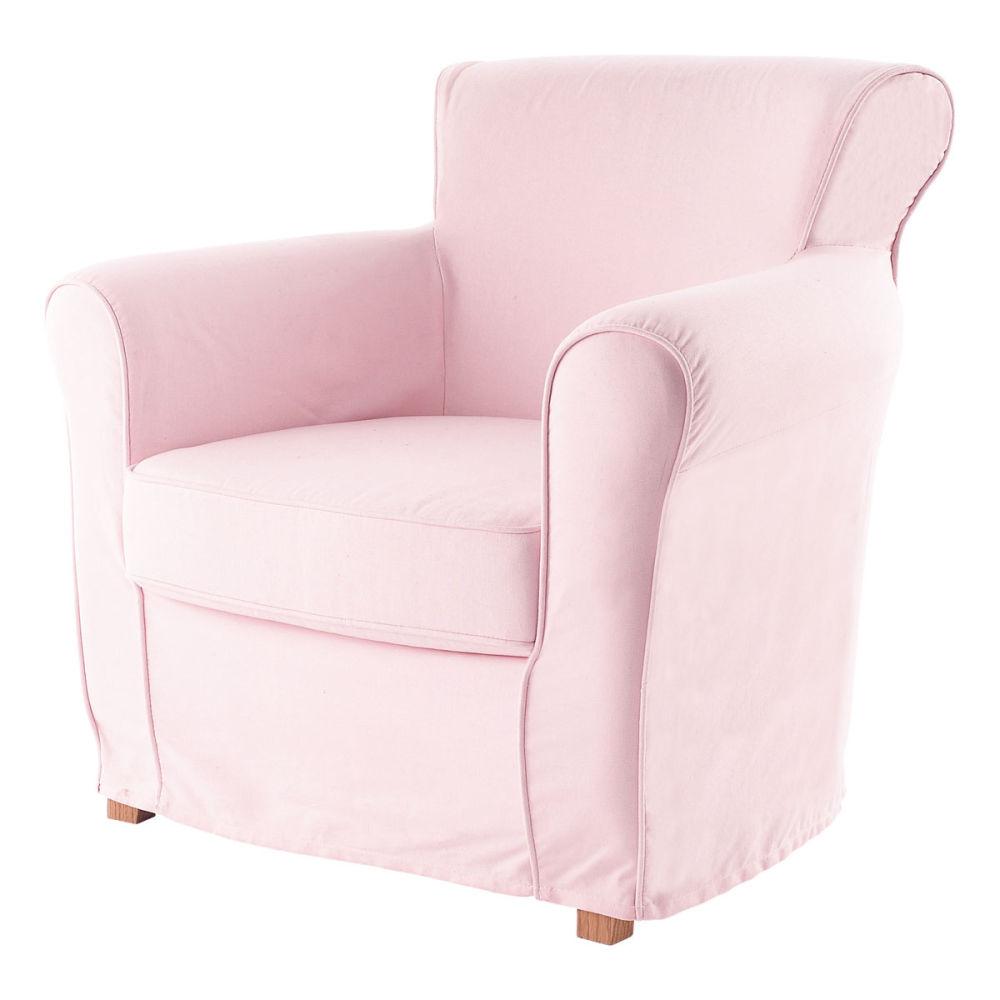 Fauteuil enfant rose pastel maisons du monde - Fauteuil rose enfant ...
