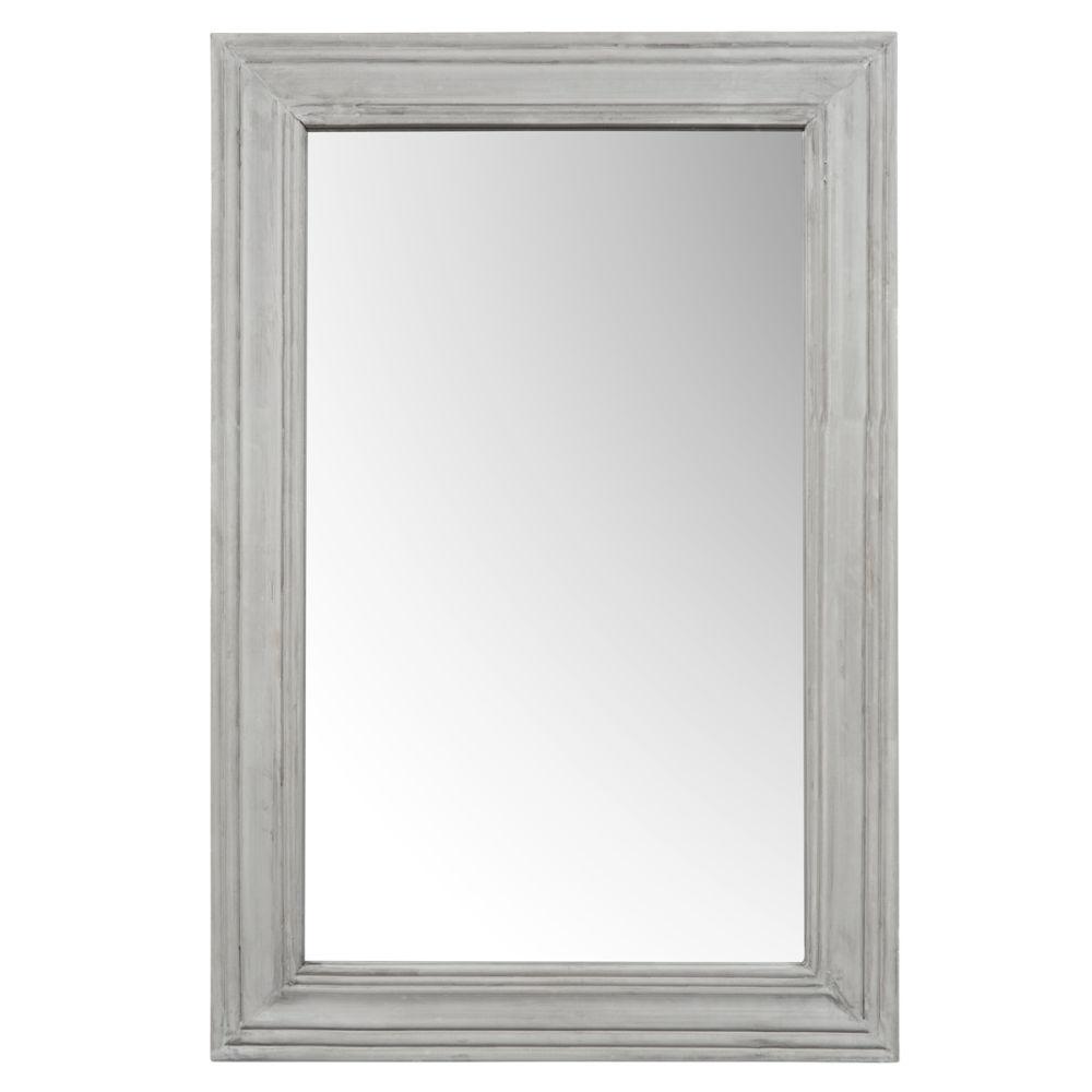Miroir gris montmartre maisons du monde for Grand miroir gris