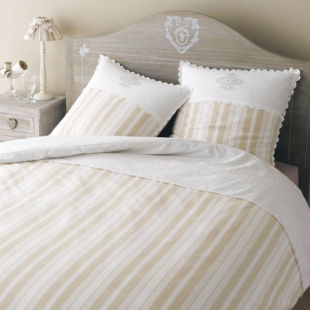Parure parfum 260x240 maisons du monde for Linge de lit maison du monde