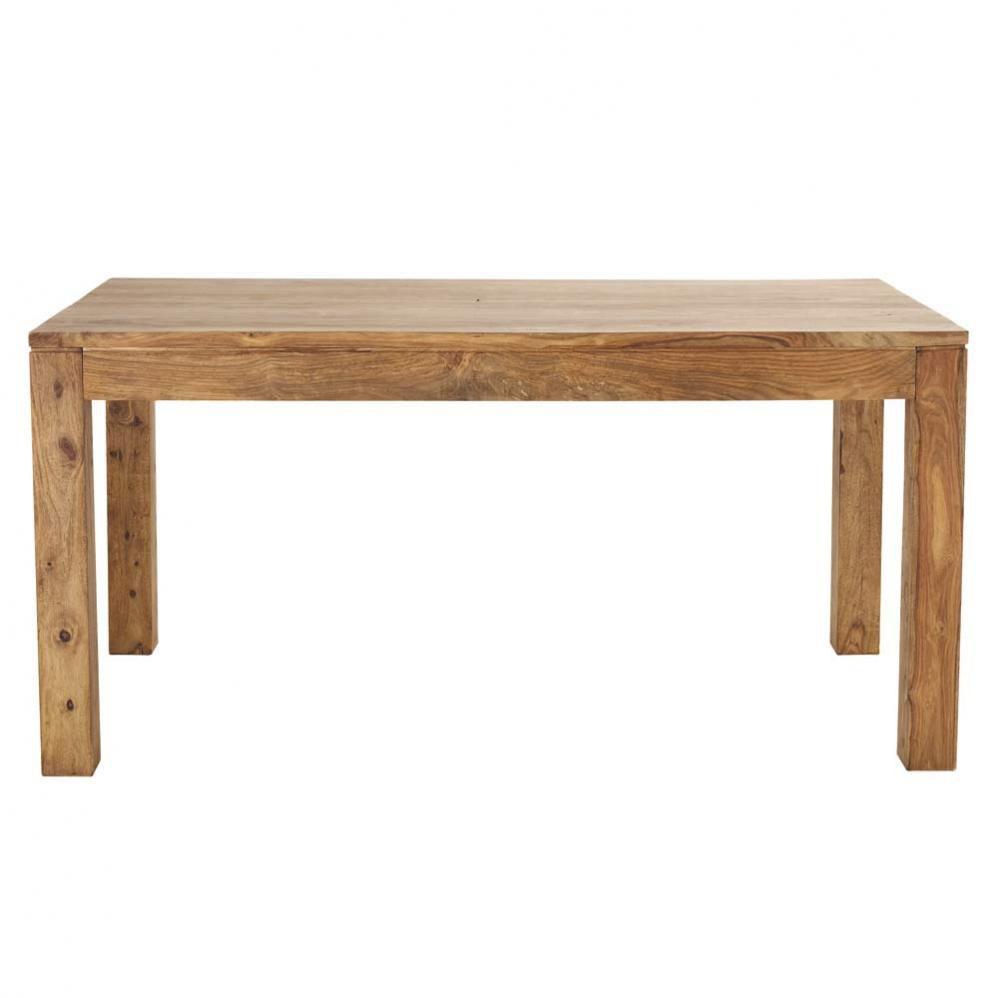 table de salle à manger en bois de sheesham massif l 160 cm ... - Chaise Tulipe Maison Du Monde