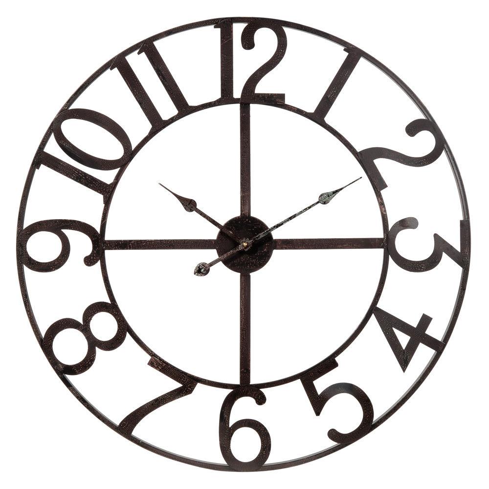Horloge numbers maisons du monde for Horloge murale grande taille