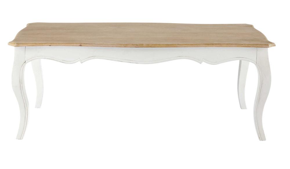 Table basse en manguier massif blanc Versailles | Maisons du Monde