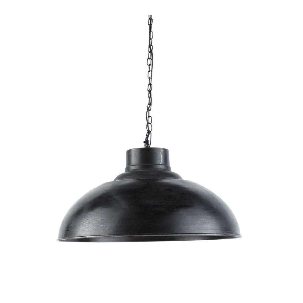 Suspension indus en m tal effet vieilli noire d 56 cm springfield maisons du monde for Suspension luminaire maison du monde