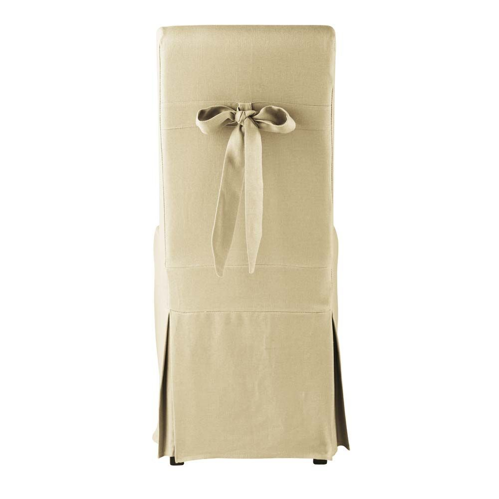 Linen dining chair covers chair pads cushions for Linen furniture covers