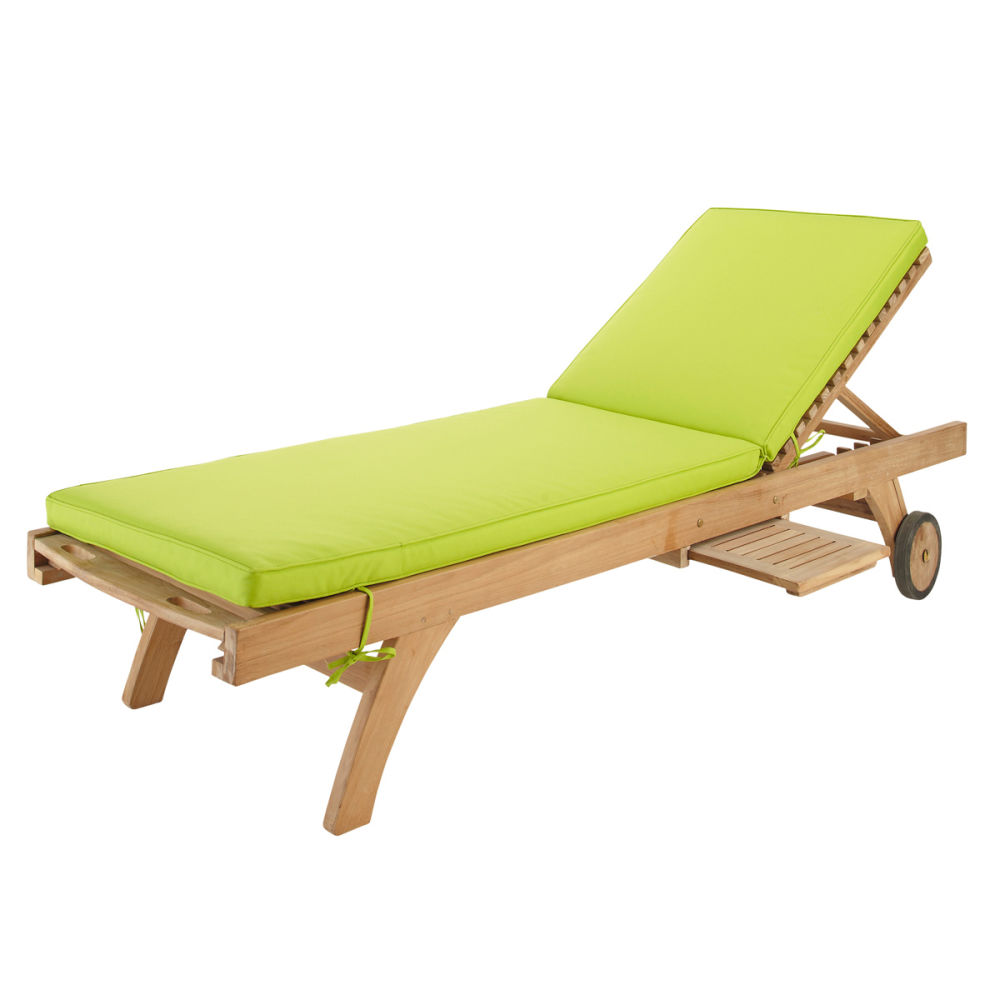 matelas bain de soleil en tissu vert l 196 cm sunny. Black Bedroom Furniture Sets. Home Design Ideas