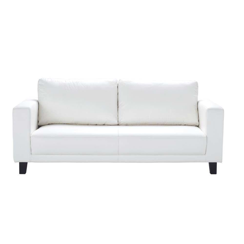 3 Seat White Sofa Nikeo Maisons Du Monde