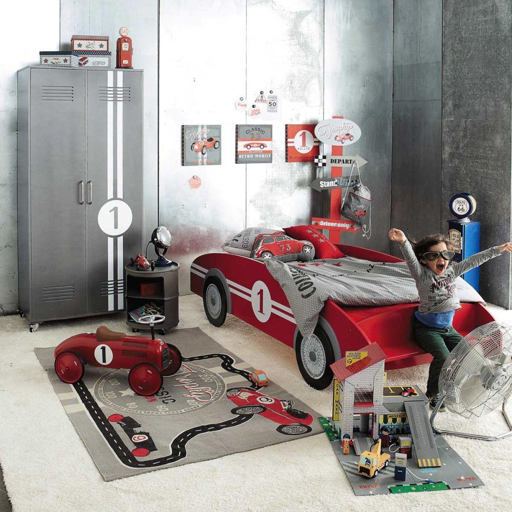 Lit voiture enfant rouge Circuit  Maisons du Monde