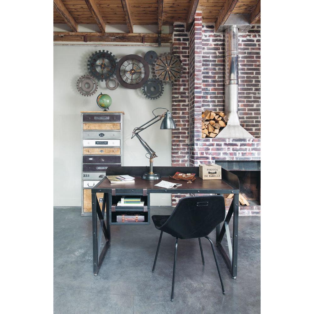 semainier en bois effet vieilli l 59 cm lazare maisons du monde