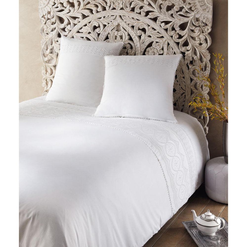 Parure housse de couette white 260x240 maisons du monde for Parure de lit maison du monde