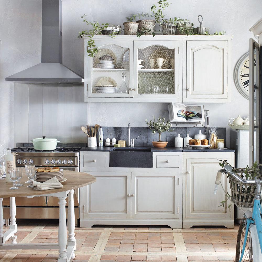 Cuisine l ment mural 120 saint r my maisons du monde - Element meuble cuisine ...