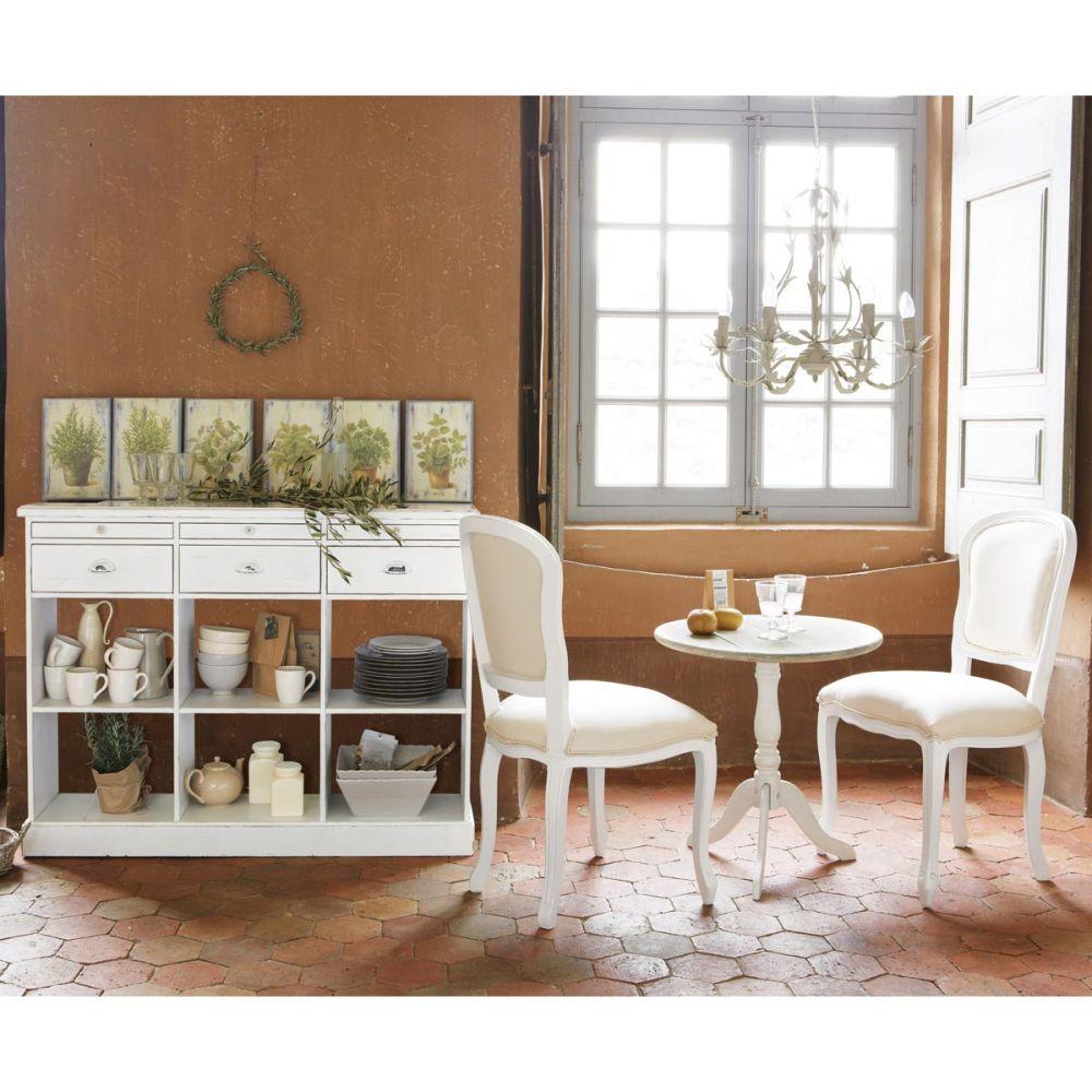 Comptoir en bois ivoire l 126 cm garance maisons du monde - Comptoir des meubles ...