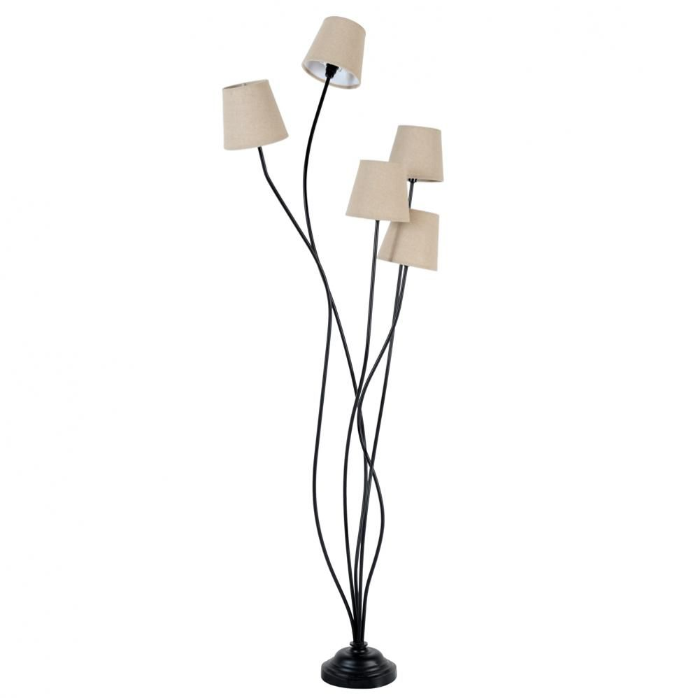 lampadaire en m tal et tissu h 158 cm toscane maisons du. Black Bedroom Furniture Sets. Home Design Ideas