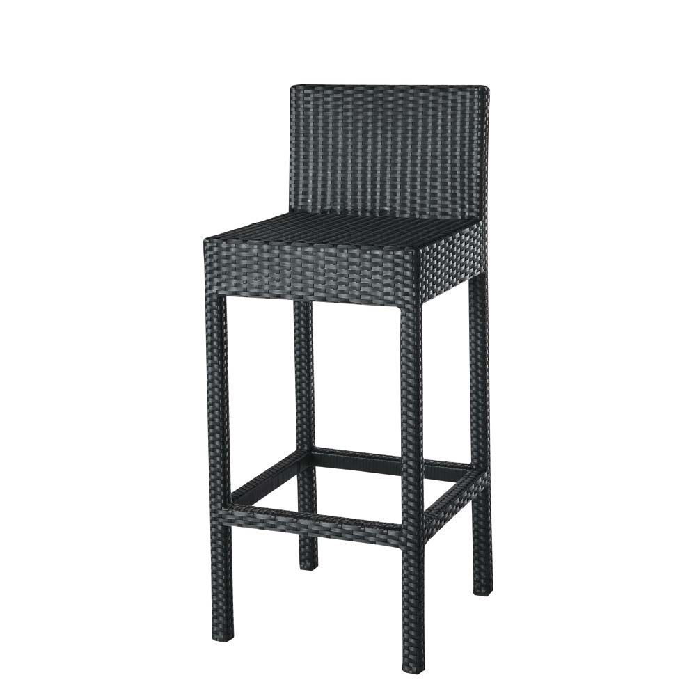 Tabouret chaise de bar miami maisons du monde for Bar exterieur resine tressee