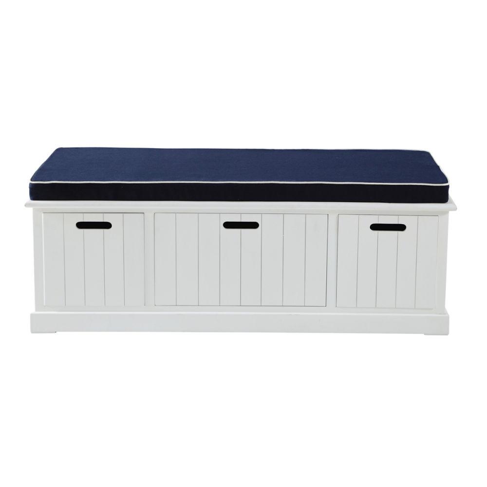 Banc de rangement enfant blanc princeton maisons du monde - Ikea banc de rangement ...