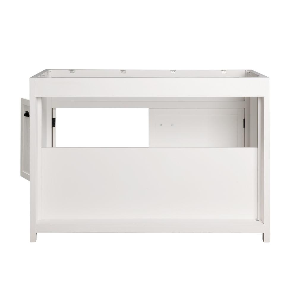 meuble bas de cuisine en bois blanc l 120 cm newport. Black Bedroom Furniture Sets. Home Design Ideas