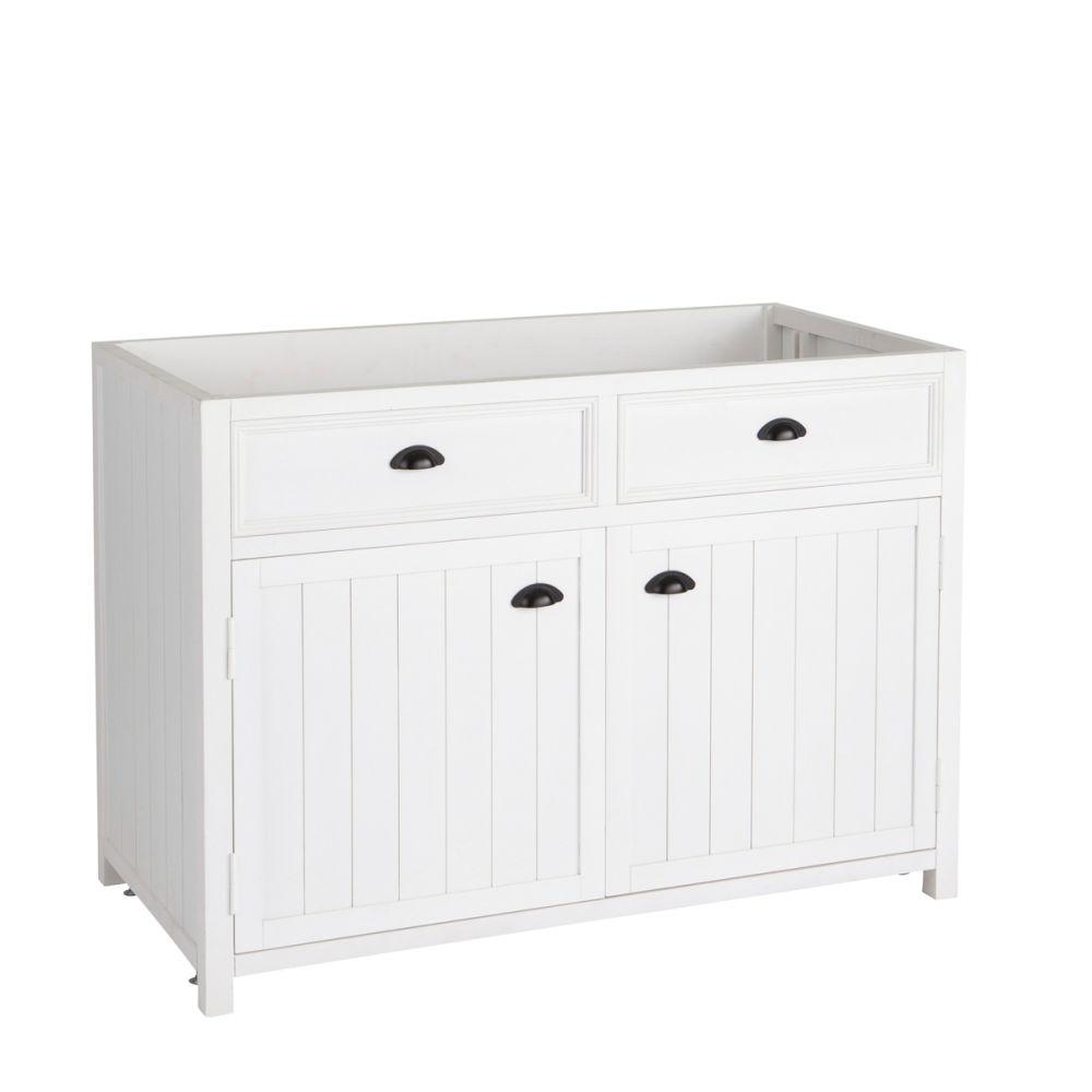 Meuble bas de cuisine en pin blanc L11 Newport  Maisons du Monde