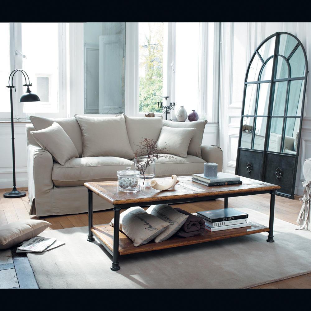 Lampadaire en m tal effet rouille h 150 cm lub ron - Table basse de salon maison du monde ...