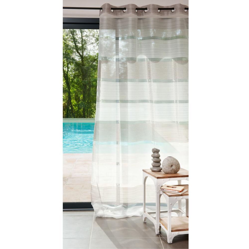 Rideau à oeillets gris 140 x 250 cm INTENSE | Maisons du Monde