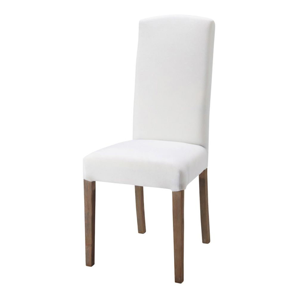 Chaise blanche et bois for Chaises blanches bois
