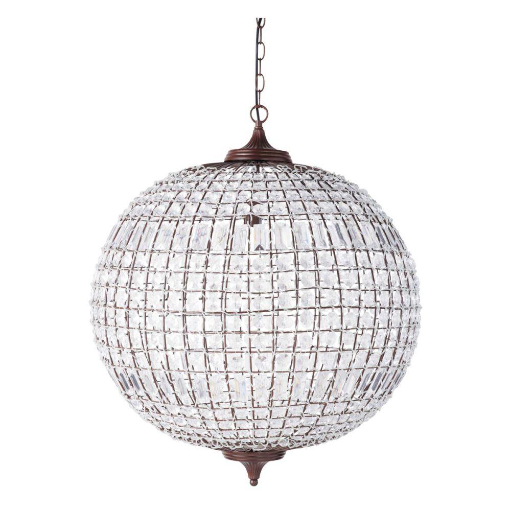 Kugelförmige Hängeleuchte FINON aus Metall, D 60 cm | Maisons du Monde