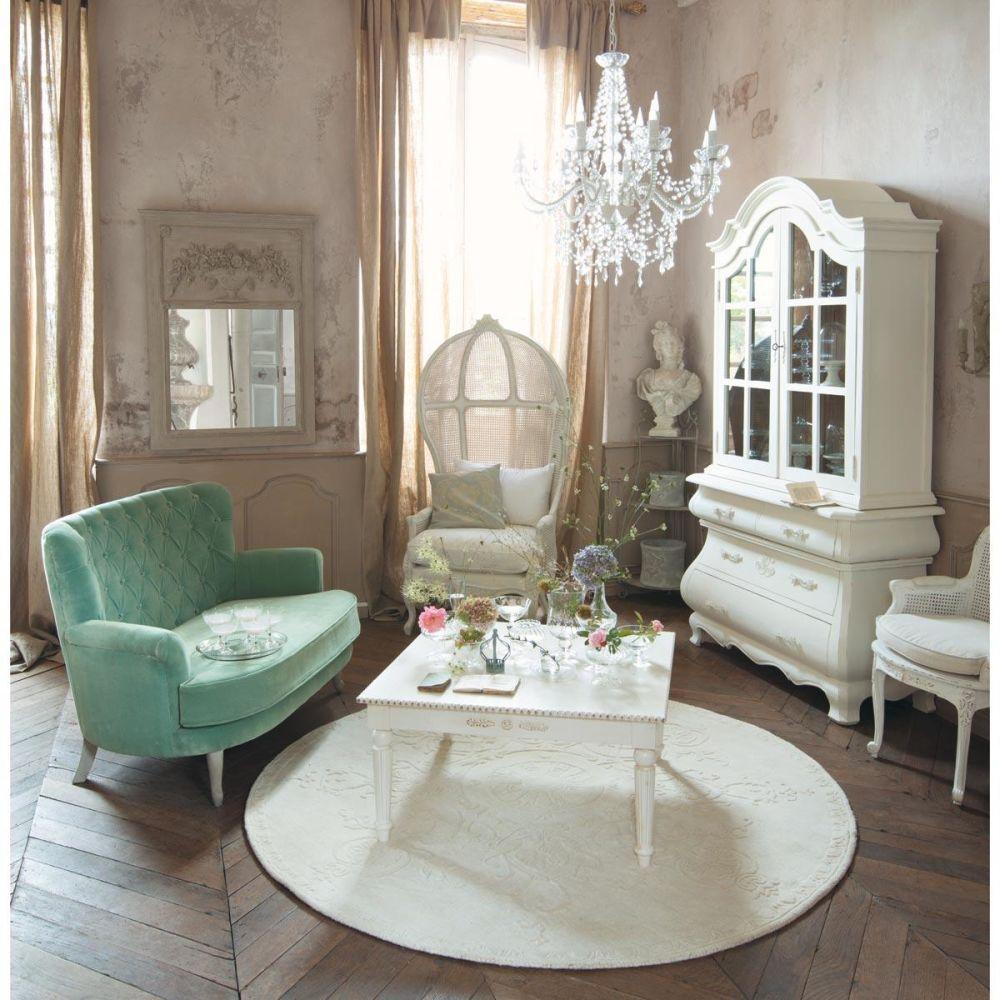 Lampadario bianco 12 bracci in metallo d 75 cm pampilles maisons du monde - Colonne maison du monde ...