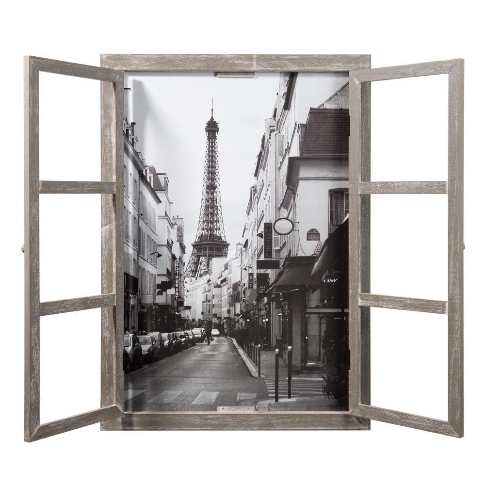 Tableau fen tre paris maisons du monde for Decoration tableau fenetre