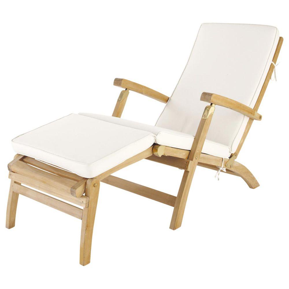 Matelas chaise longue écru L 185 cm Oléron | Maisons du Monde